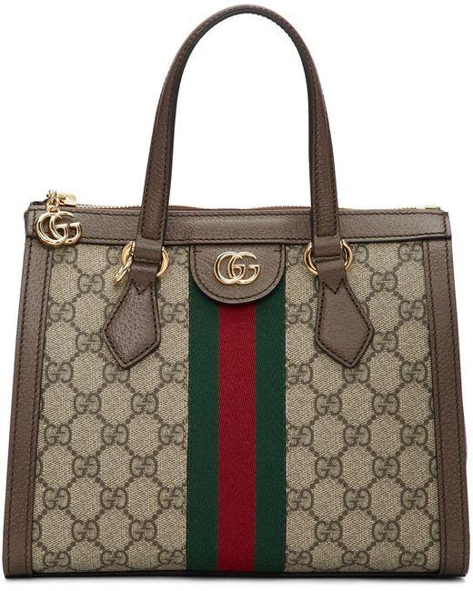 Gucci グッチ公式〔オフィディア〕GG スモール トートバッグベージュ/エボニー GGスプリーム キャンバスcolor_descriptionGGキャンバス Green