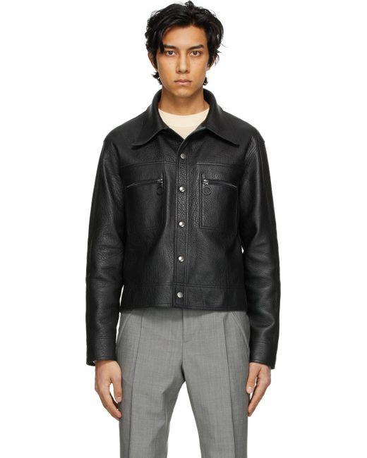 メンズ Maison Margiela リバーシブル ブラック スポーツ ジャケット Black