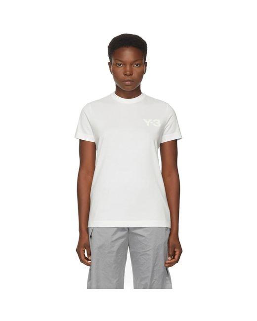 Y-3 ホワイト クラシック ロゴ T シャツ White