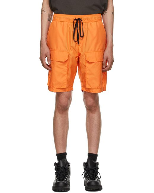 Reese Cooper Orange Ripstop Cargo Shorts for men