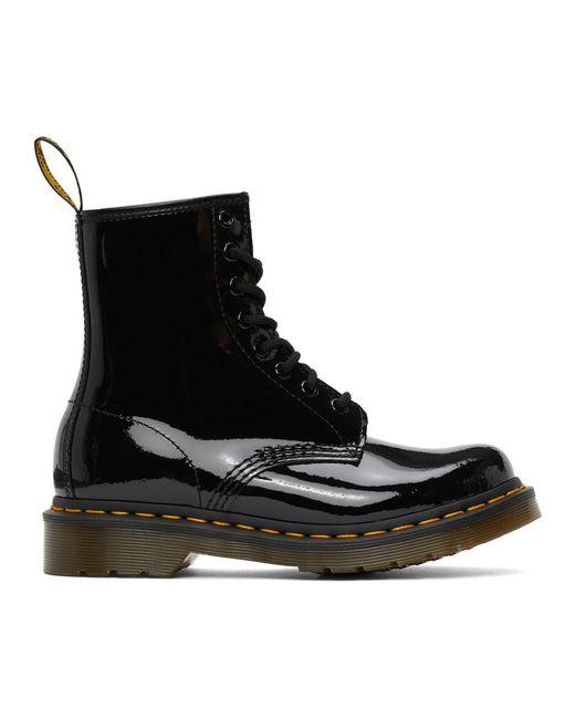 Dr. Martens ブラック パテント 1460 ブーツ Black
