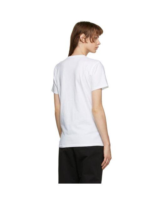 Maison Kitsuné ホワイト ベルベット Fox Head T シャツ White