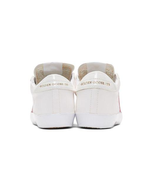 Golden Goose Deluxe Brand ホワイト And ピンク スーパースター スニーカー White