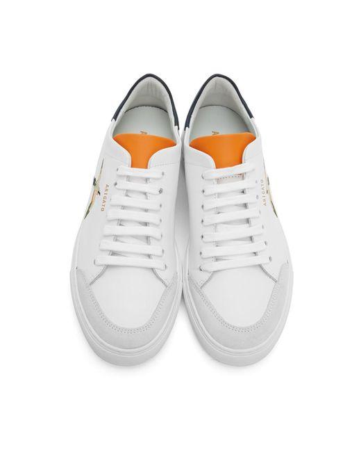 メンズ Axel Arigato Ssense 限定 ホワイト And オレンジ Bird Clean 90 スニーカー White