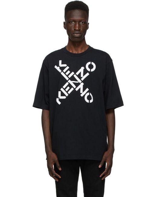 メンズ KENZO ブラック Sport ロゴ T シャツ Black