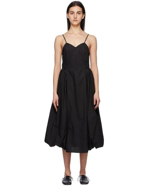 Renli Su ブラック Papaver ドレス Black