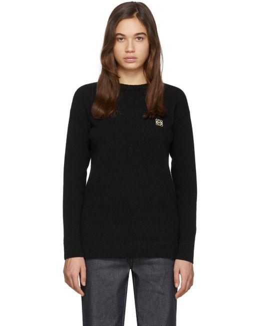 Loewe ブラック アナグラム セーター Black