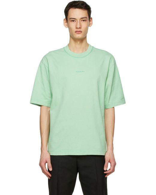 メンズ Acne グリーン Printed T シャツ Green