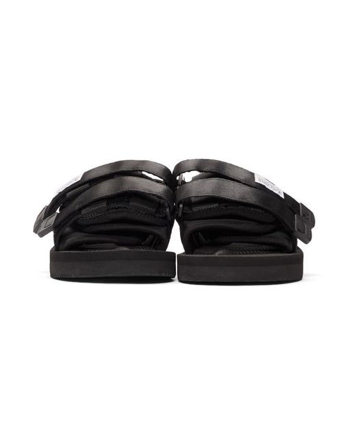 2cb3f7d44393 Lyst - Suicoke Black Moto-cab Sandals in Black - Save 8%