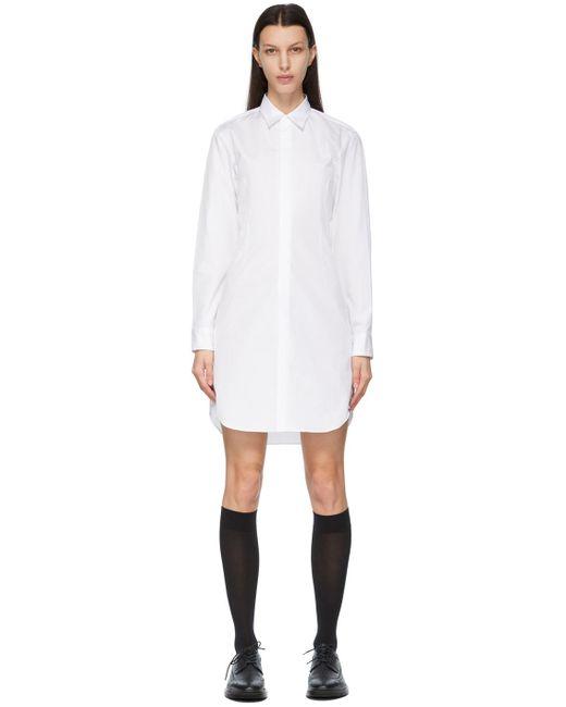 Comme des Garçons ホワイト シャツ ドレス White