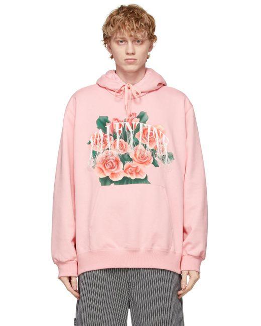 メンズ Doublet ピンク Not Valentine Embroidery フーディ Pink
