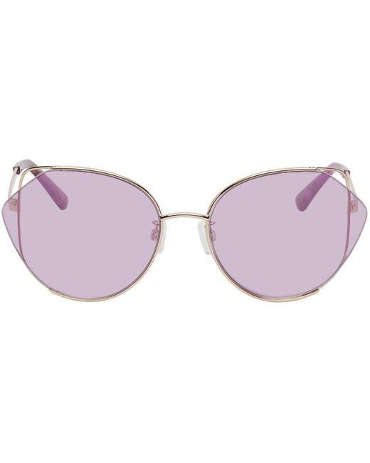 McQ Alexander McQueen パープル Geometric Iconic サングラス Purple