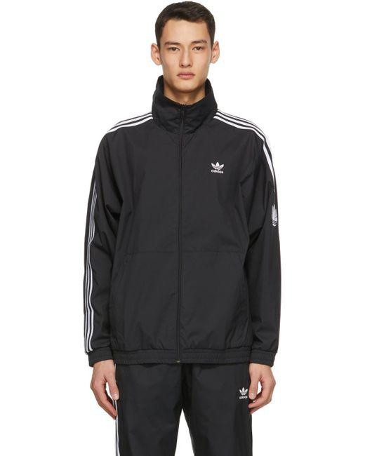 メンズ Adidas Originals ブラック 3d Trefoil トラック ジャケット Black