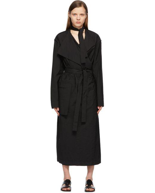 Lemaire ブラック トレンチ ドレス Black