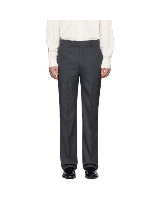 メンズ Lemaire グレー ウール スーツ トラウザーズ Gray