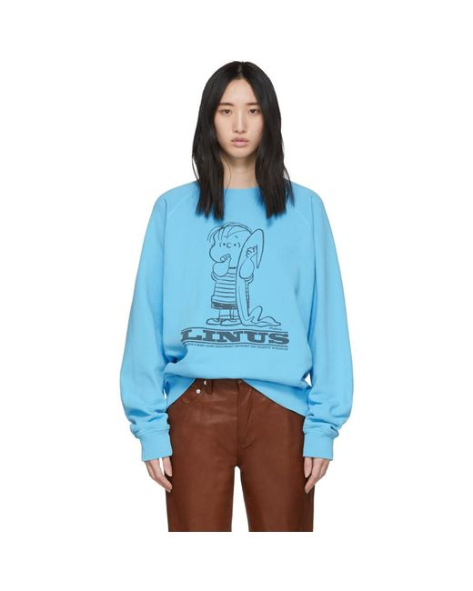 Marc Jacobs Peanuts Edition ブルー Linus スウェットシャツ Blue
