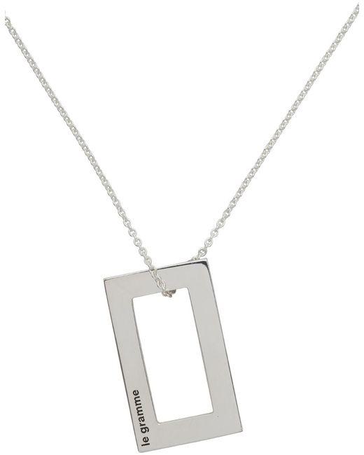 メンズ Le Gramme シルバー Le 4.3 Grammes ペンダント ネックレス Metallic