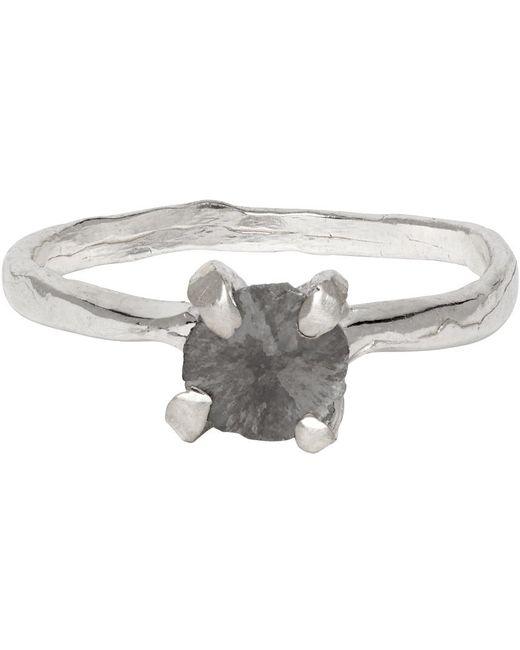 Pearls Before Swine Metallic Silver Splice Diamond Ring