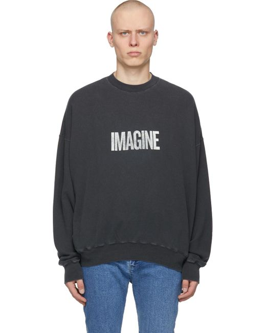 メンズ Remi Relief ブラック Imagine スウェットシャツ Black