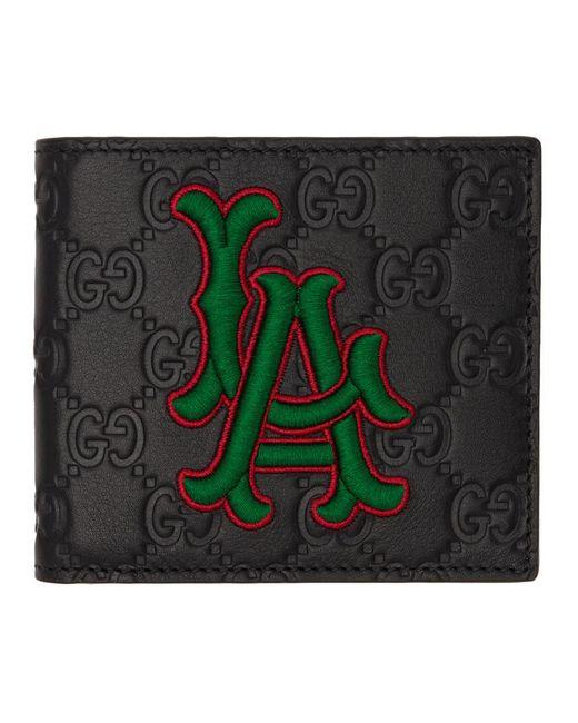 メンズ Gucci La Angels Edition ブラック GG ウォレット Black
