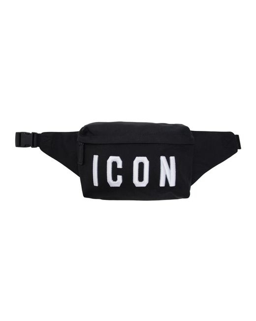 DSquared² - Black Sac-ceinture a logo noir for Men - Lyst