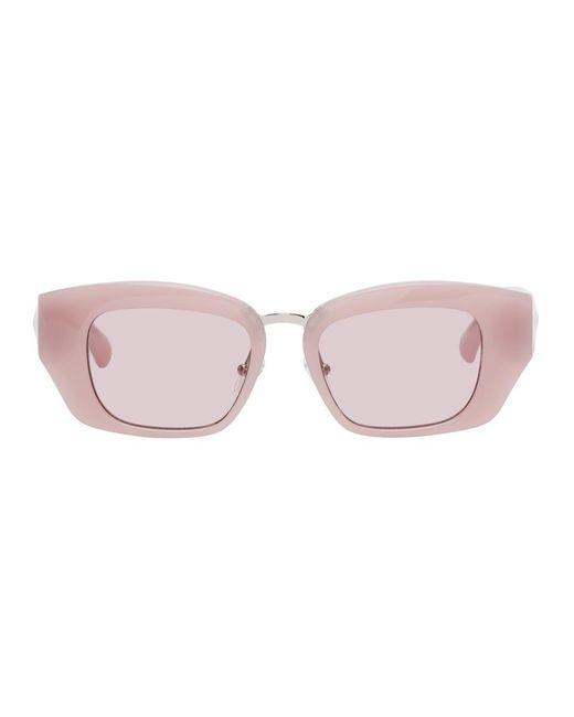 Dries Van Noten Linda Farrow Edition ピンク キャットアイ サングラス Pink