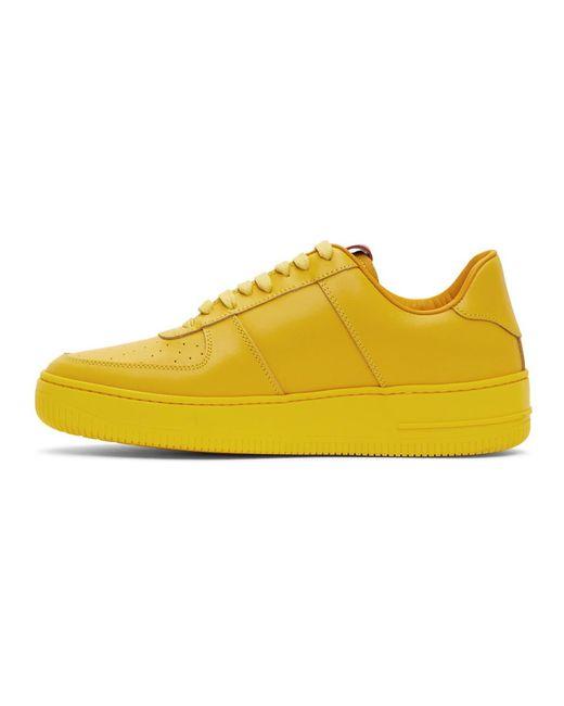 メンズ 424 Adidas Originals Edition イエロー ロートップ スニーカー Yellow