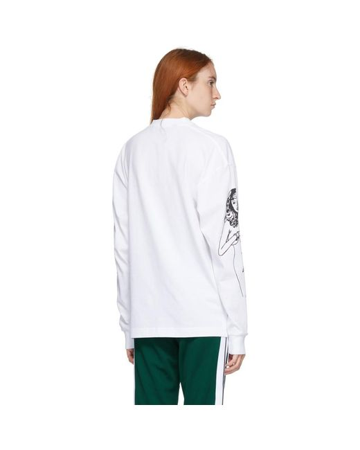 Palm Angels ホワイト スモール Exotic Club T シャツ White
