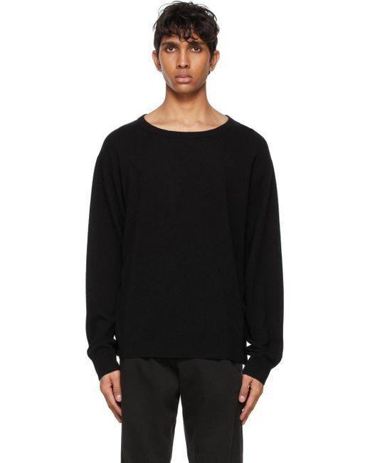 メンズ Dries Van Noten ブラック カシミア セーター Black