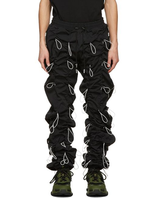 メンズ 99% Is ブラック & ホワイト Gobchang ラウンジ パンツ Black