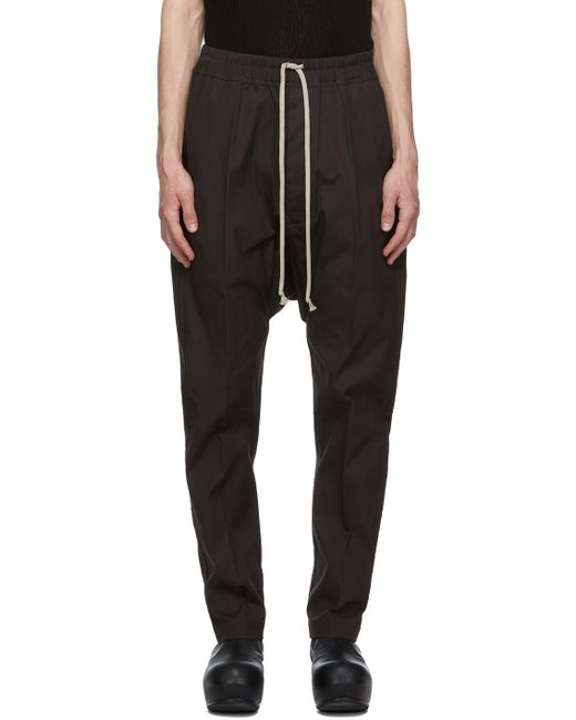 Rick Owens Ssense Exclusive Black Long Drawstring Trousers for men
