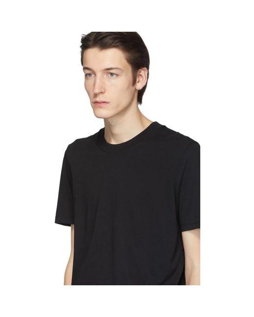 メンズ Jil Sander ブラック クルーネック T シャツ Black