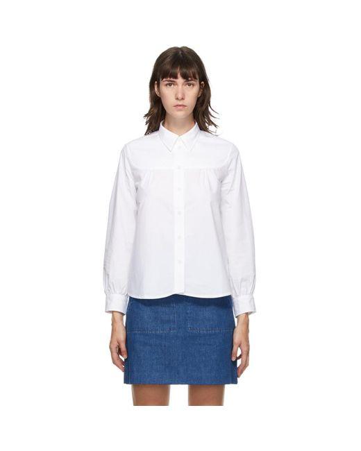 A.P.C. ホワイト Pascale シャツ White