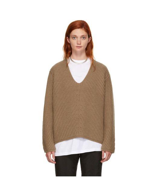 Acne - Brown Wool Deborah Sweater - Lyst