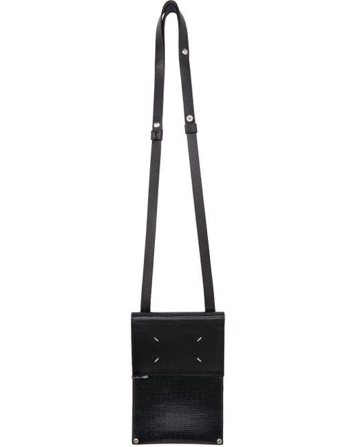 メンズ Maison Margiela ブラック Fold Over カード ケース Black