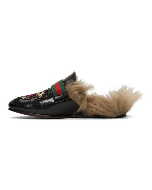 Flaneurs noirs Angry Cat New Princetown Gucci pour homme en coloris Black