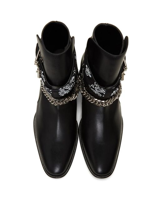 Amiri Black Bandana Buckle Boots For Men Save 12 Lyst