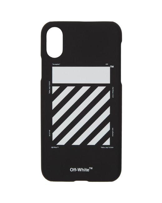 メンズ Off-White c/o Virgil Abloh Ssense 限定 ブラック And ホワイト Diag Iphone 11 Pro ケース Black