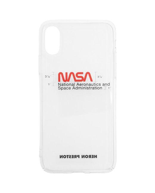 メンズ Heron Preston Nasa Iphone Xs ケース White