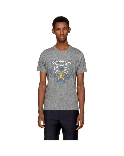 KENZO - Gray Grey Tiger T-shirt for Men - Lyst