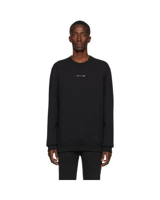 メンズ 1017 ALYX 9SM ブラック ロゴ スウェットシャツ Black