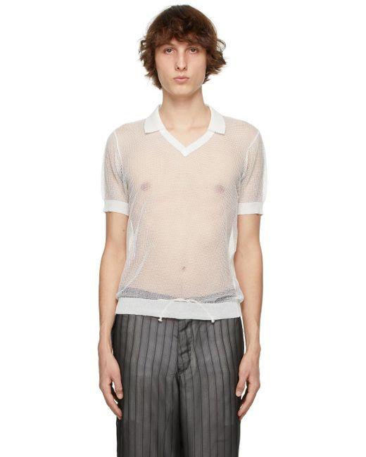 メンズ Maison Margiela ホワイト ポロシャツ White