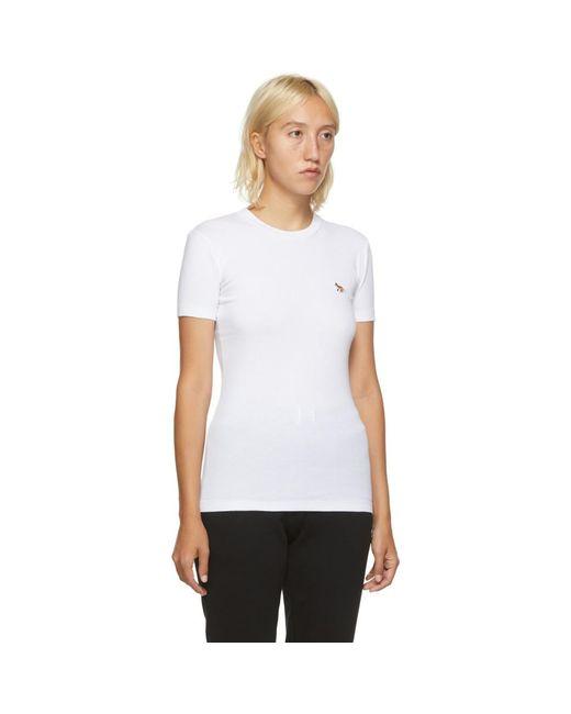 Maison Kitsuné ホワイト Profile Fox T シャツ White