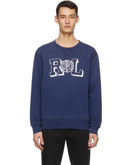 メンズ Polo Ralph Lauren ブルー スウェットシャツ Blue