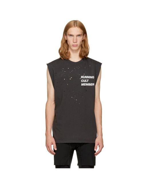 Satisfy | Black 'cult' Moth Eaten Muscle T-shirt for Men | Lyst