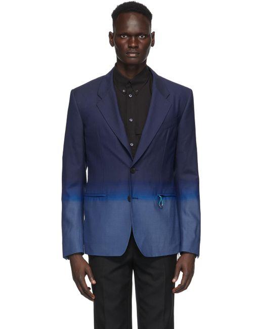 メンズ Givenchy ブルー シングルブレスト グラディエント ブレザー Blue