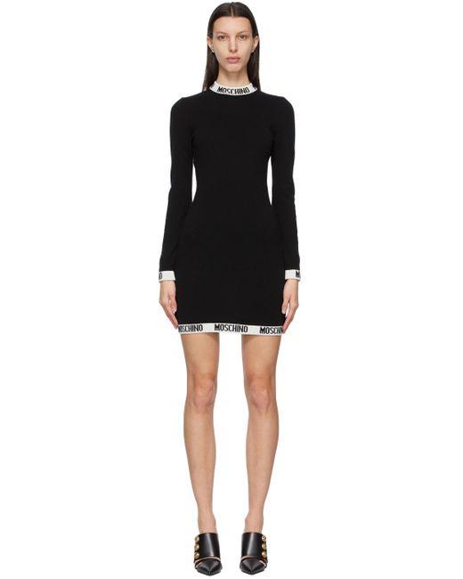 Moschino ブラック ロゴ ドレス Black