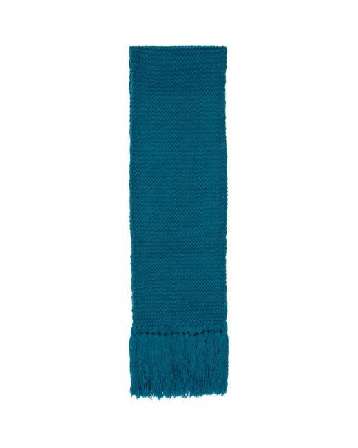 Foulard surdimensionne en laine bleu Tibet Dries Van Noten pour homme en coloris Blue