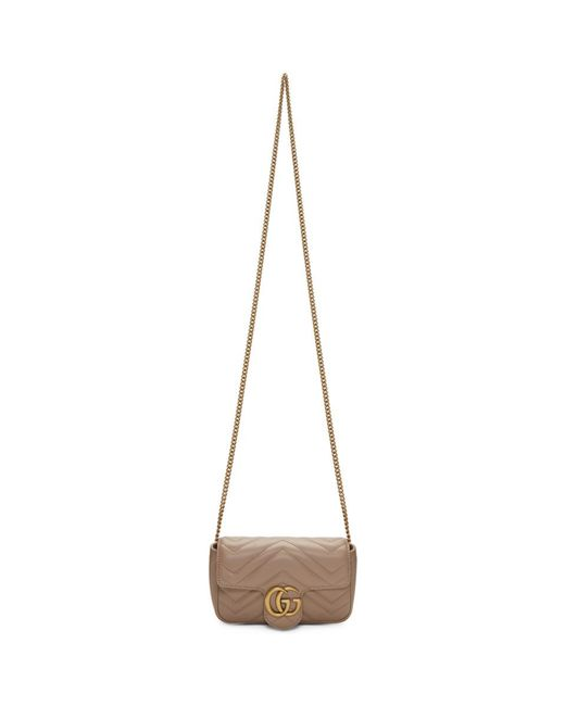 Gucci Pink Super Mini GG Marmont Bag