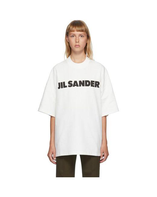 Jil Sander Ssense 限定 ホワイト ボクシー ロゴ T シャツ White